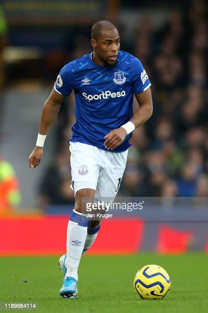 Djibril Sidibe of Everton during the Premier League match between Everton FC and Norwich City at Goodison Park on November 23, 2019 in Liverpool,...