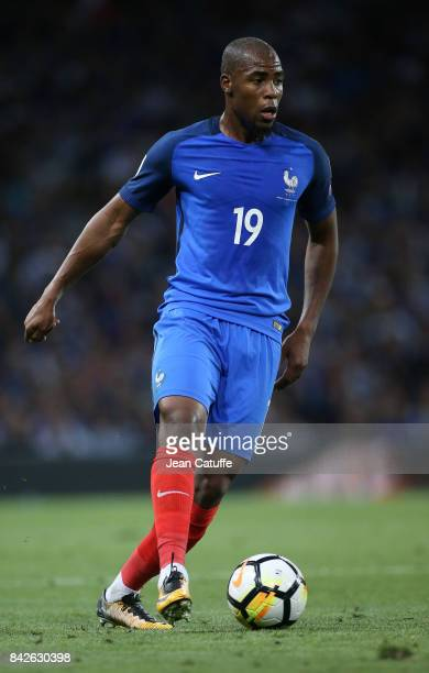 Djibril Sidibe of France during the FIFA 2018 World Cup Qualifier between France and Luxembourg at the Stadium on September 3 2017 in Toulouse France