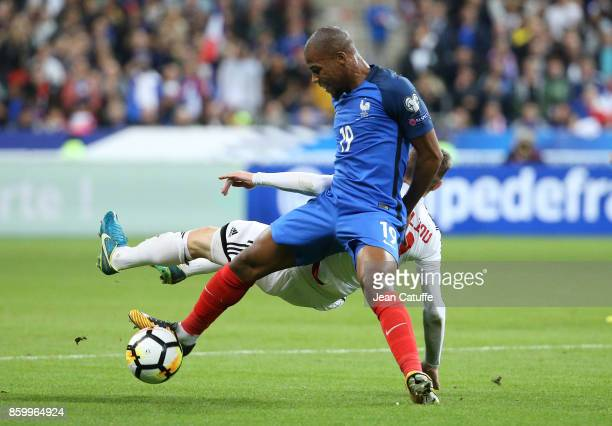 Djibril Sidibe of France during the FIFA 2018 World Cup Qualifier between France and Belarus at Stade de France on October 10 2017 in Saint Denis...