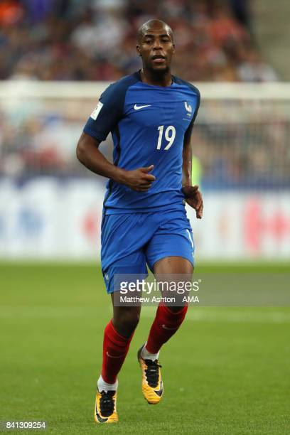 Djibril Sidibe of France in action during the FIFA 2018 World Cup Qualifier match between France and The Netherlands at Stade de France on August 31...