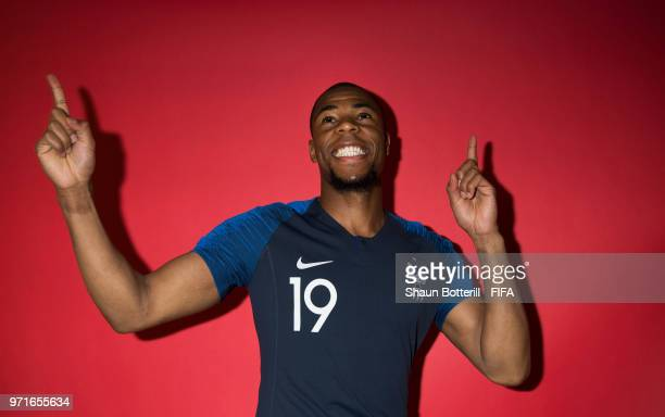 Djibril Sidibe of France poses for a potrait at the team hotel during the official FIFA World Cup 2018 portrait session at on June 11 2018 in Moscow...