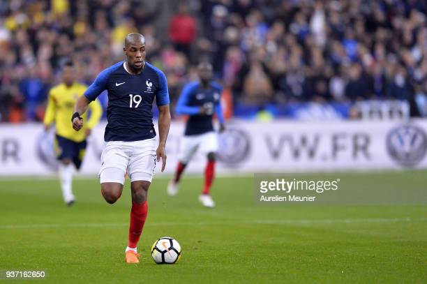 Djibril Sidibe of France runs with the ball during the international friendly match between France and Colombia at Stade de France on March 23 2018...