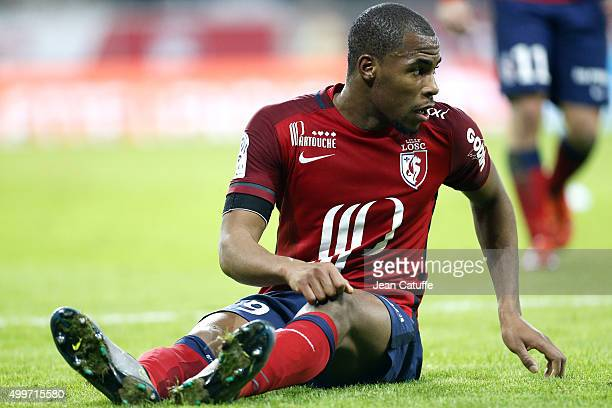 Djibril Sidibe of Lille looks on during the French Ligue 1 match between Lille OSC and AS SaintEtienne at Stade Pierre Mauroy on December 2 2015 in...