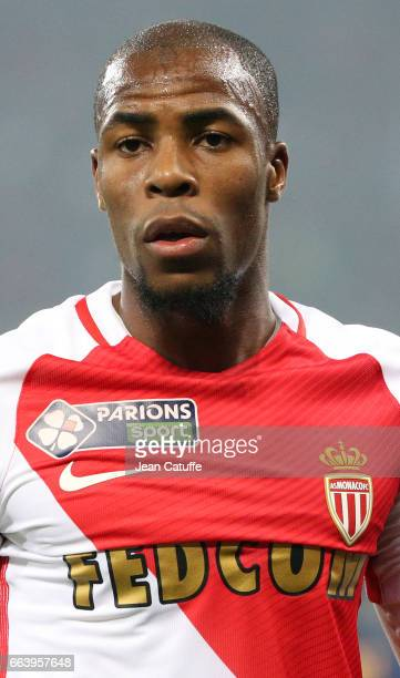 Djibril Sidibe of Monaco during the French League Cup final between Paris SaintGermain and AS Monaco at Parc OL on April 1 2017 in Lyon France