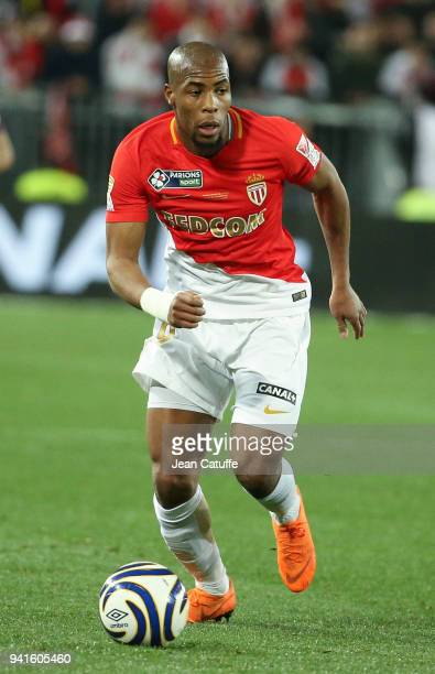 Djibril Sidibe of Monaco during the French League Cup final between Paris SaintGermain and AS Monaco on March 31 2018 in Bordeaux France