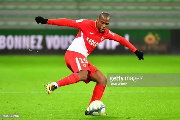 Djibril Sidibe of Monaco during the Ligue 1 match between AS SaintEtienne and AS Monaco at Stade GeoffroyGuichard on December 15 2017 in SaintEtienne...