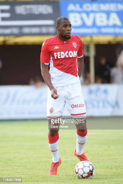 Djibril Sidibe of Monaco during the pre-season friendly match between AS Monaco and KSC Lokeren on July 7, 2019 in Wetteren, Belgium.