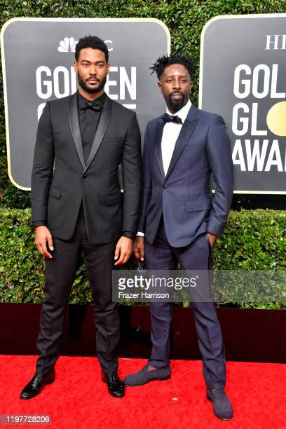 Djibril Zonga and Ladj Ly attend the 77th Annual Golden Globe Awards at The Beverly Hilton Hotel on January 05 2020 in Beverly Hills California