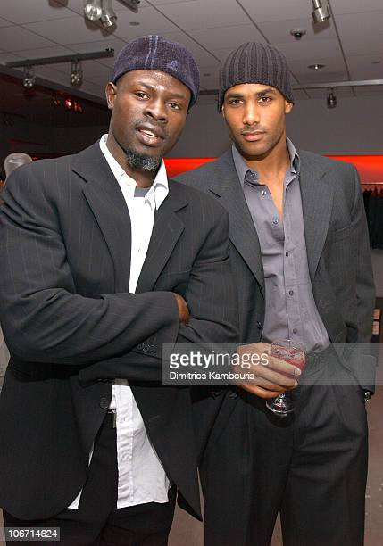 Djimon Hounsou and Boris Kodjoe during Emporio Armani Celebrates Publication of 'Red Carpet Diaries Confessions of a Glamour Boy' at Emporio Armani...
