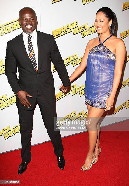 Djimon Hounsou and Kimora Lee Simmons arrive at the premiere of Summit Entertainment's 'Never Back Down' at the Cinerama Dome on March 4 2008 in...