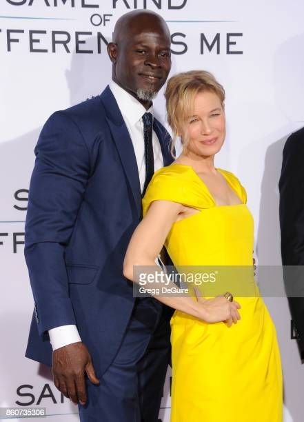 Djimon Hounsou and Renee Zellweger arrive at the premiere of Paramount Pictures and Pure Flix Entertainment's Same Kind Of Different As Me at...