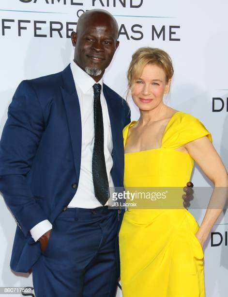 Djimon Hounsou and Renee Zellweger attend the premiere of Paramount Pictures and Pure Flix Entertainment's 'Same Kind Of Different As Me' on October...