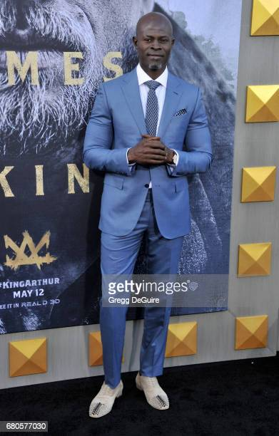 Djimon Hounsou arrives at the premiere of Warner Bros Pictures' 'King Arthur Legend Of The Sword' at TCL Chinese Theatre on May 8 2017 in Hollywood...