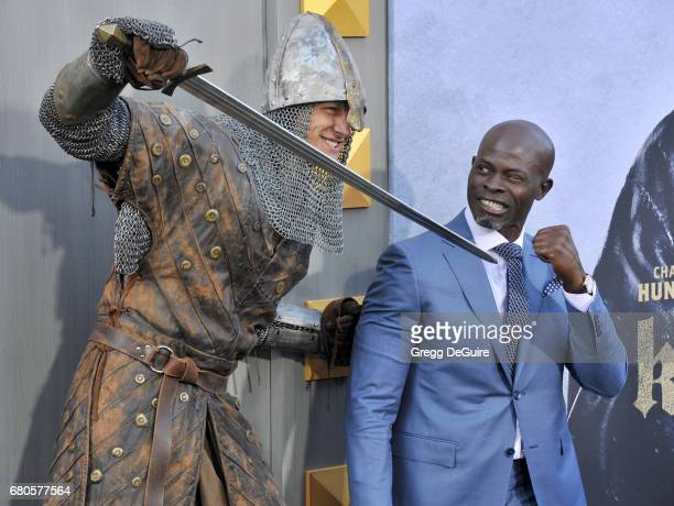 Djimon Hounsou arrives at the premiere of Warner Bros Pictures' King Arthur Legend Of The Sword at TCL Chinese Theatre on May 8 2017 in Hollywood...