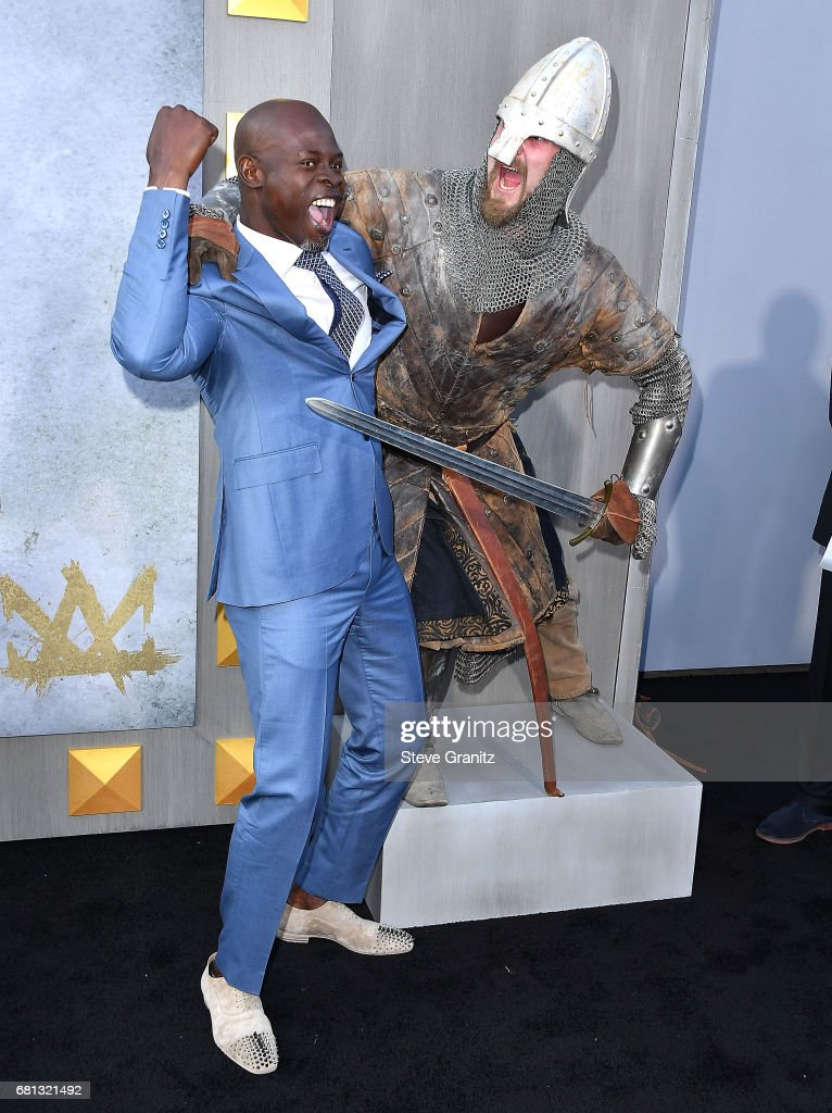 Djimon Hounsou arrives at the Premiere Of Warner Bros. Pictures' 'King Arthur: Legend Of The Sword' at TCL Chinese Theatre on May 8, 2017 in Hollywood, California.
