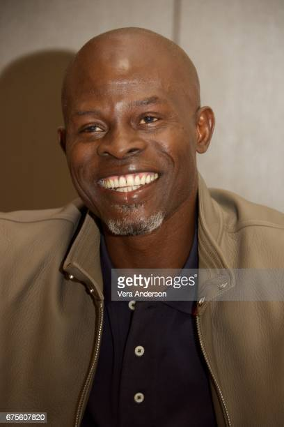 Djimon Hounsou at the 'King Arthur Legend of the Sword' Press Conference at the Four Seasons Downtown Hotel on April 30 2017 in New York City