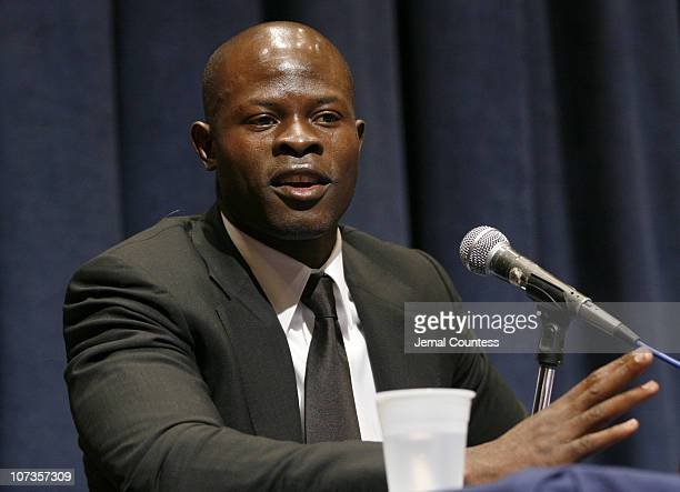 Djimon Hounsou at the panal discussion following the special screening of 'Blood Diamond' at the United Nations on January 10 2007