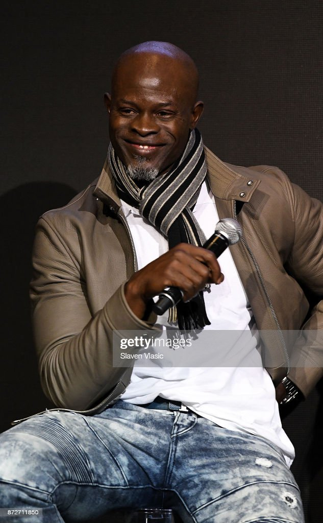 Djimon Hounsou attends 2018 Pirelli Calendar launch press conference at The Pierre Hotel on November 10, 2017 in New York City.