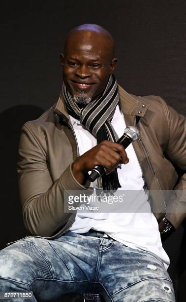 Djimon Hounsou attends 2018 Pirelli Calendar launch press conference at The Pierre Hotel on November 10 2017 in New York City