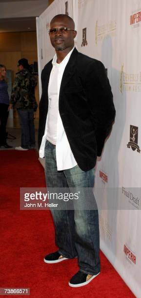 Djimon Hounsou attends the 7th Annual International Beverly Hills Film Festival on April 11 2007 at the Clarity Theater in Beverly Hills California