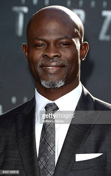 Djimon Hounsou attends the european premiere of 'The Legend Of Tarzan' at Odeon Leicester Square on July 5 2016 in London England