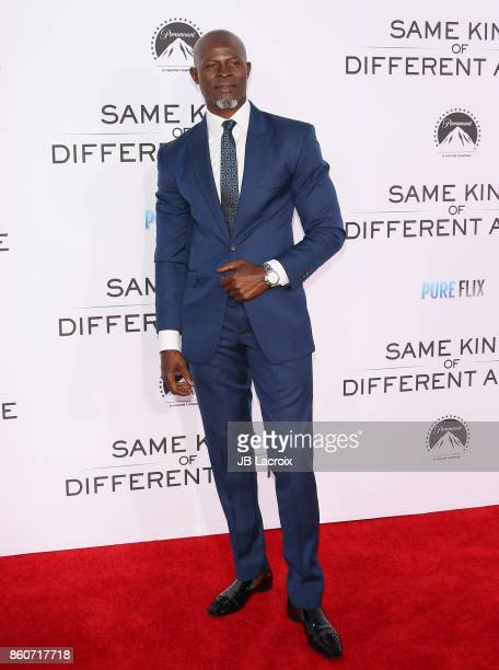 Djimon Hounsou attends the premiere of Paramount Pictures and Pure Flix Entertainment's 'Same Kind Of Different As Me' on October 12 2017 in Los...