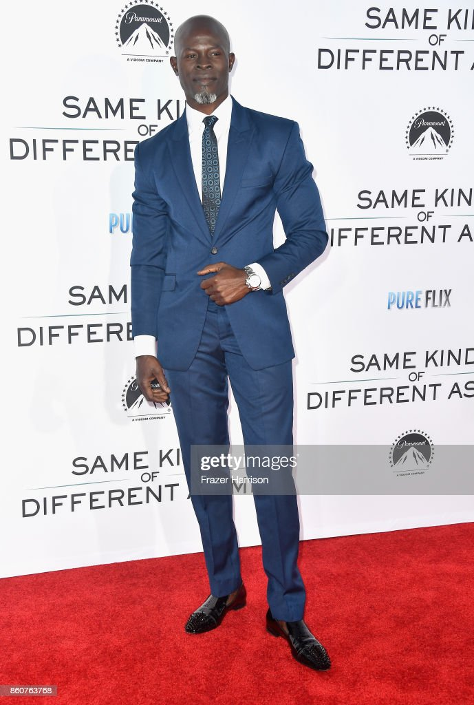 Djimon Hounsou attends the Premiere Of Paramount Pictures And Pure Flix Entertainment's 'Same Kind Of Different As Me' at Westwood Village Theatre on October 12, 2017 in Westwood, California.
