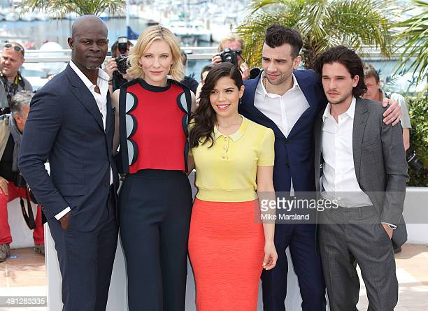 Djimon Hounsou Cate Blanchett America Ferrera Jay Baruchel and Kit Harington attend the 'How To Train Your Dragon 2' photocall at the 67th Annual...