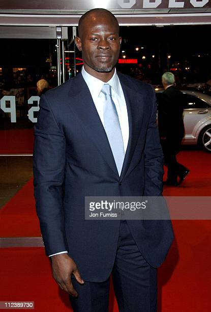 Djimon Hounsou during Blood Diamond London Premiere Inside Arrivals at Odeon Leicester Square in London Great Britain