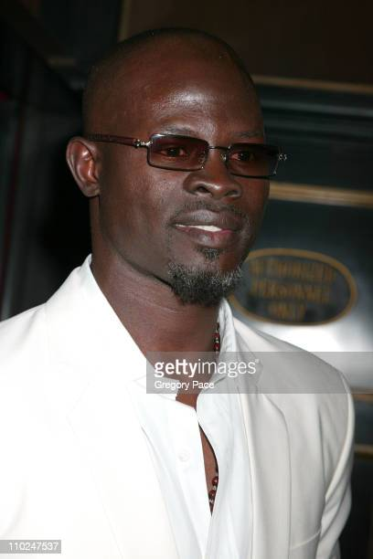 Djimon Hounsou during 'The Island' New York City Premiere Inside Arrivals at Ziegfeld Theater in New York City New York United States