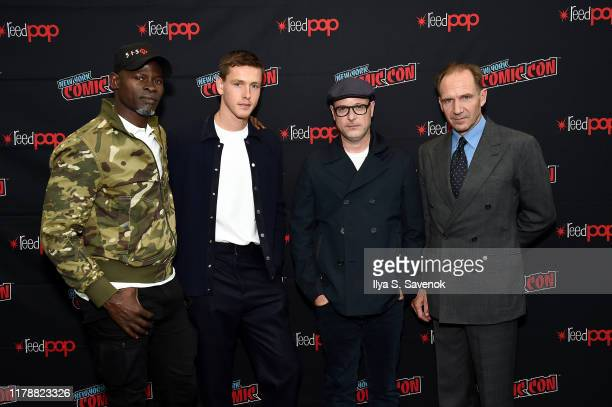"""Djimon Hounsou, Harris Dickinson, Matthew Vaughn, and Ralph Fiennes attend New York Comic Con in support of """"The King's Man"""" at The Jacob K. Javits..."""