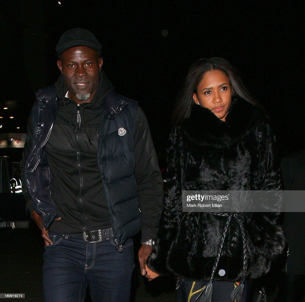 Djimon Hounsou (L) leaving Rise night club on September 17, 2013 in London, England.