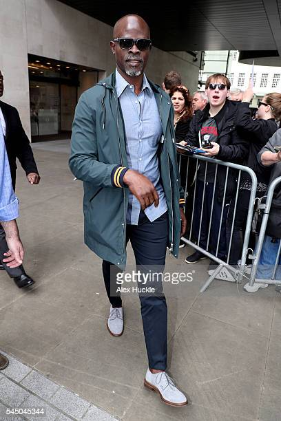 Djimon Hounsou seen arriving at the BBC Radio 1 Studios on July 5 2016 in London England