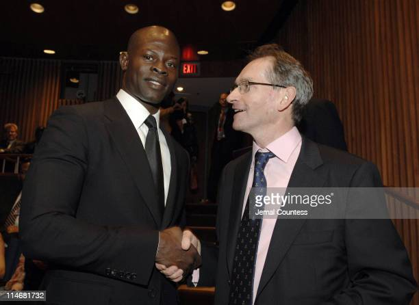 Djimon Hounsou with John McNee Permanent Representative of Canada to the United Nations