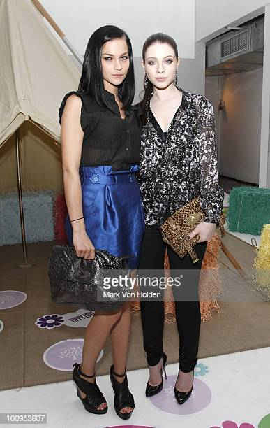 DJ/model Leigh Lezark and actress Michelle Trachtenberg attends book launch party for Glastonbury Another Stage at Milk Studios on May 25 2010 in New...