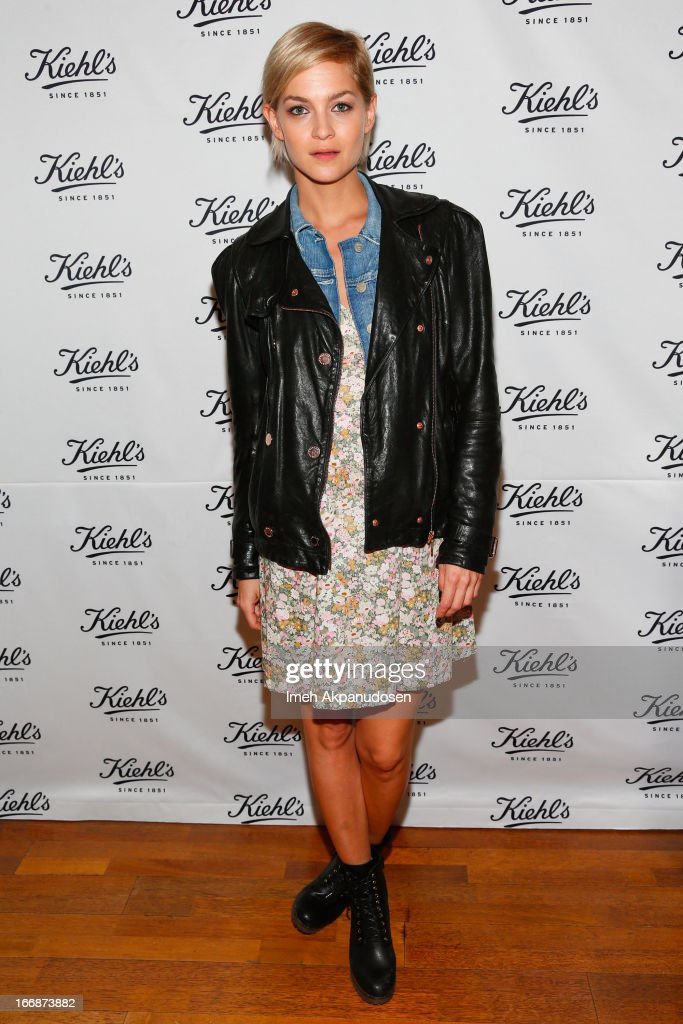 DJ/model Leigh Lezark of the Misshapes attends Kiehl's launch of an Environmental Partnership Benefiting Recycle Across America at Kiehl's Since 1851 Santa Monica Store on April 17, 2013 in Santa Monica, California.