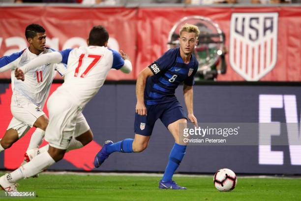 Djordje Mihailovic of United States controls the ball during the second half of the international friendly against the Panama at State Farm Stadium...