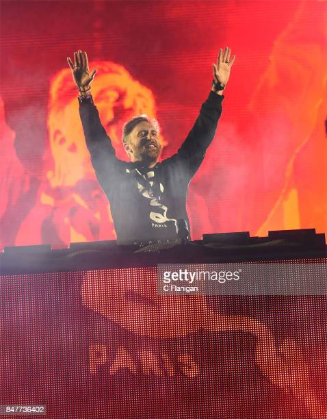 Priducer David Guetta performs during KAABOO Del Mar at the Del Mar Fairgrounds on September 15 2017 in Del Mar California