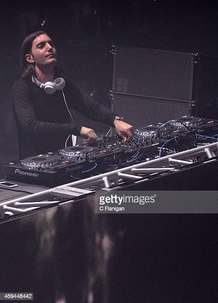 Producer Alesso aka Alessandro Lindblad performs at The Shrine Expo Hall on November 22 2014 in Los Angeles California