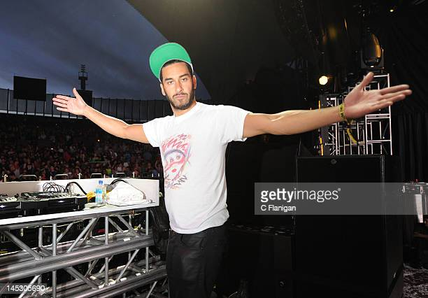 Producer Armand Van Helden of Duck Sauce performs during day 1 of the 2012 'I LOVE THIS CITY' Music Festival at Shoreline Amphitheatre on May 25 2012...