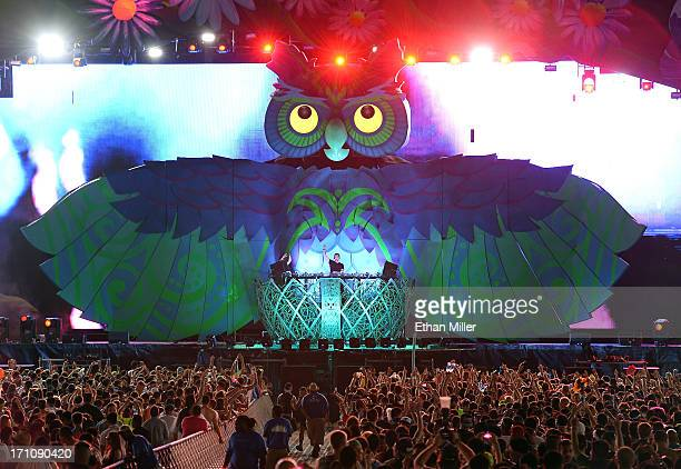 DJ/producer Cedric Gervais performs at the 17th annual Electric Daisy Carnival at Las Vegas Motor Speedway on June 21 2013 in Las Vegas Nevada