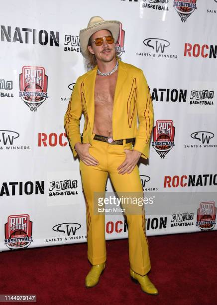 Producer Diplo arrives at Roc Nation's Roc da Court all-star basketball game benefiting the Boys & Girls Clubs of Southern Nevada at Tarkanian Court...