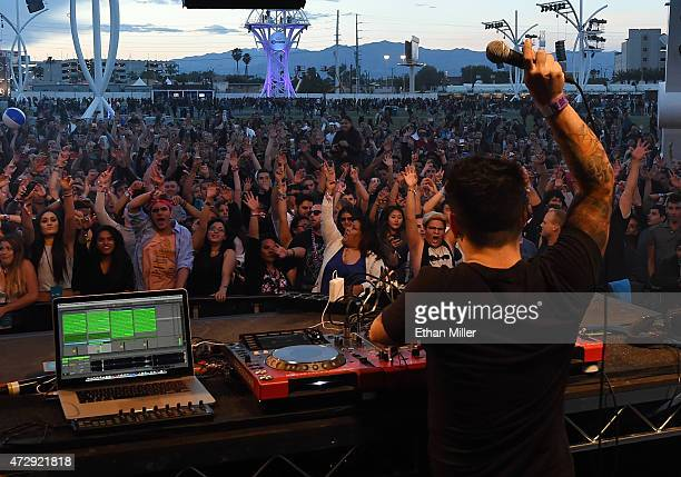 DJ/producer FTampa performs during Rock in Rio USA at the MGM Resorts Festival Grounds on May 8 2015 in Las Vegas Nevada