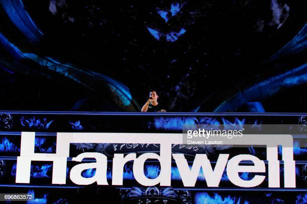 DJ/producer Hardwell performs during the 21st annual Electric Daisy Carnival at Las Vegas Motor Speedway on June 17 2017 in Las Vegas Nevada