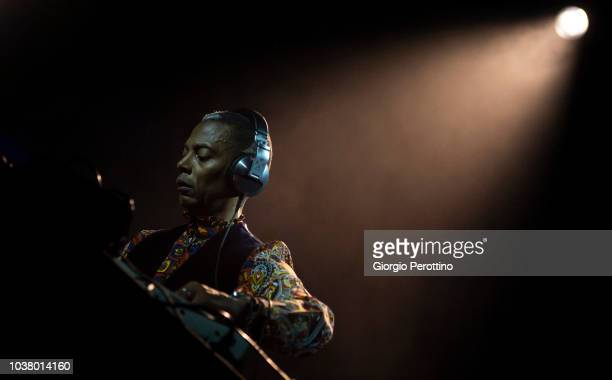 Dj/Producer Jeff Mills performs live with drummer Tony Allen during the event called 'AFRICA NOW @OGR' on September 22, 2018 at Officine Grandi...