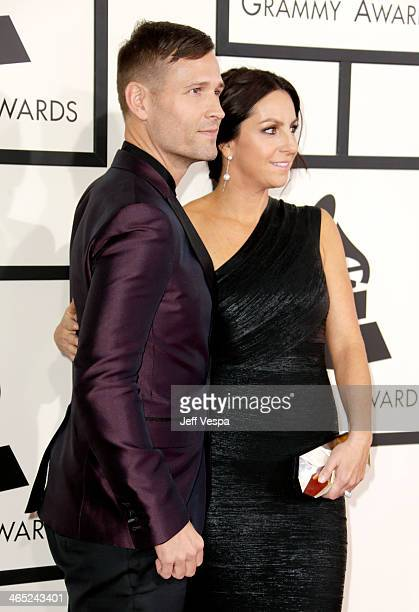 DJ/producer Kaskade and Naomi Raddon attends the 56th GRAMMY Awards at Staples Center on January 26 2014 in Los Angeles California