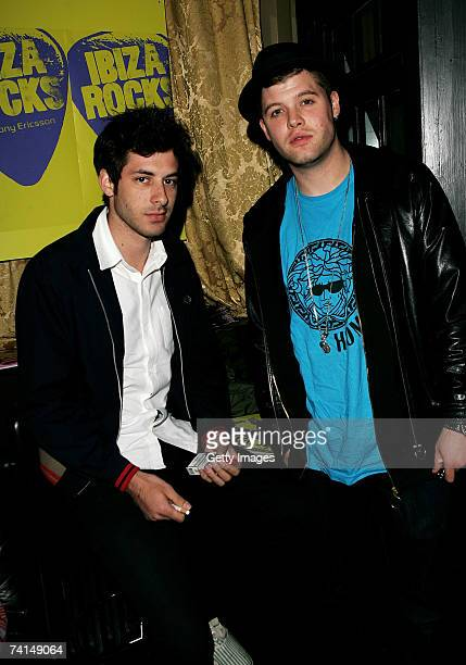 DJ/producer Mark Ronson and singer Daniel Merriweather arrive at the Ibiza Rocks with Sony Ericsson launch party at The Lock Tavern Camden on May 14...