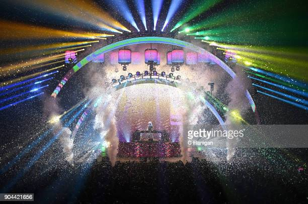 Producer Marshmello performs at the Bill Graham Civic Auditorium on January 12 2018 in San Francisco California