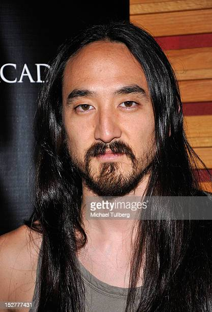 Producer Steve Aoki arrives at an 'Up Close Personal with Steve Aoki and Kaskade' QA session for GRAMMY U Los Angeles at Los Angeles Film School on...