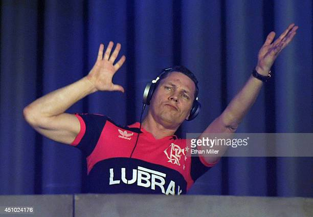 DJ/producer Tiesto performs at the 18th annual Electric Daisy Carnival at Las Vegas Motor Speedway on June 22 2014 in Las Vegas Nevada